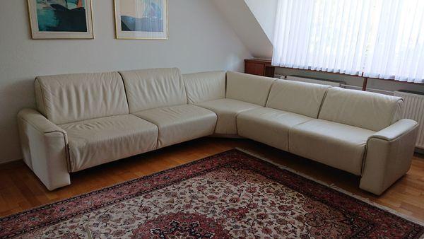 Sofa Leder offwhite strapazierfähig neuwertig