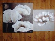 Leinwandbild 2-teilig Blumen Mohn Mohnblumen