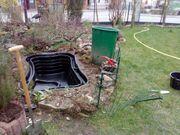 Teichanlage Gartenarbeiten Frühjahr 2020