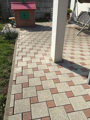 Terrassen- Pflastersteine grau rot