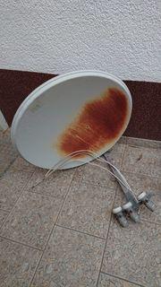 Satellitenschüssel 2st Wandhalterung