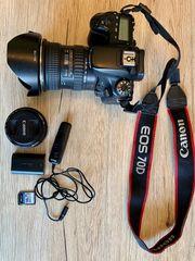 Canon EOS 70D mit Zubehör