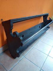 antikes Holzregal für Wandteller