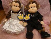 Affen Brautpaar Hochzeit Plüschtiere original