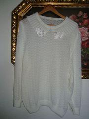 Vintage Pullover- Lochmuster - Spitze - Gr