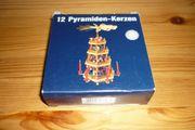 12 Pyramiden-Kerzen weiß