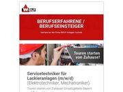 Servicetechniker für Lackieranlagen m w