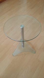 runder Glastisch von Segmüller mit