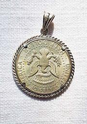 Charivari Anhänger 835 Silber Münze