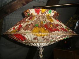 Rarität ! 1950er-50er Jahre Stehlampe-Lampe-Igelit Lampenschirm-Vintage-Antik-Retro-Rockabilly-DDR