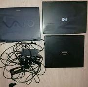 Konvolut 4 Laptop HP Sony
