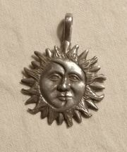 Anhänger Antik Sonne Sterling Silber