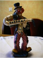 Clown Standfiguren mit Saxophone Clown