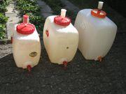 3 Kunststoff Mostfässer Speitel und