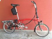 Brompton Faltrad rot 6-Gangschaltung ca