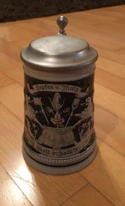 Bierkrug - Hopfen und Malz Gott
