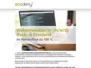 Webentwickler m w d Back-