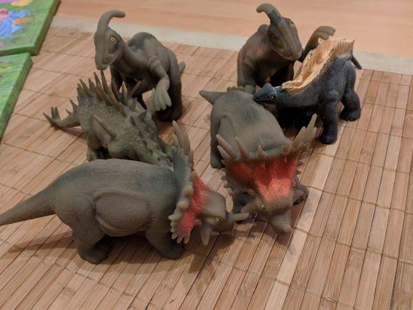 6 Dinosaurier weiche Figuren Sammlung