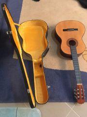 Gitarre und Gitarrenkoffer incl Notenständer