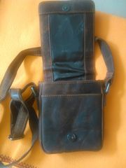 Echte Leder Hand- Umhänge Tasche