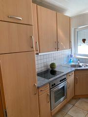 Küche groß helles Holz