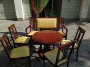 Sitzgruppe 4 Stühle Tisch Bank