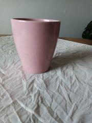 Blumenübertopf rosa gebraucht aber in