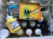 Acrylfarben top Tusche und Kreide