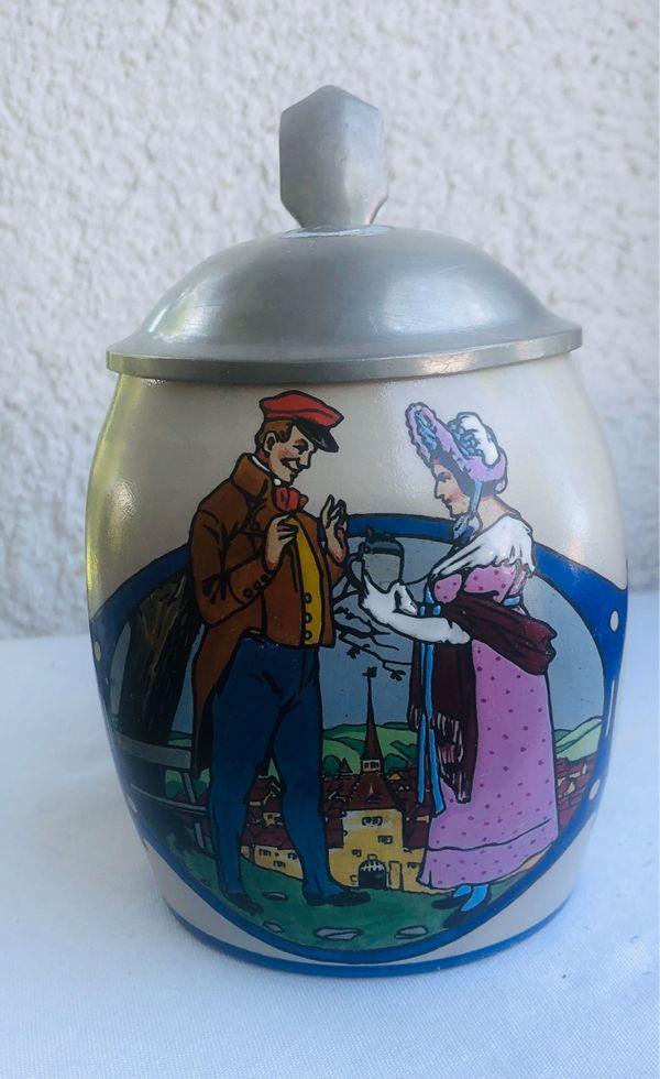 Jugendstil Bierkrug ca 1910 Merkelbach