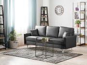 3-Sitzer Sofa Kunstleder dunkelgrau GAVLE neu
