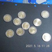 10 Stück 2 Euro Münzen