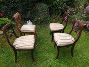 4 bildschöne Biedermeier Stühle - auch