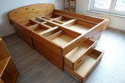 Bett aus Massivholz geölt 160