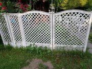 Garten Kunststoffzaun weiß gebraucht