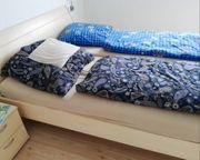 Schönes helles Ehebett max Außenmaße