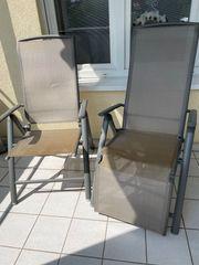 Gartenstühle Aluminium Silber