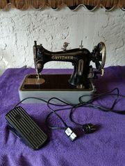 antike Gritzner Koffer - Nähmaschine