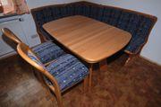 Massivholz Eckbank 2 Stühle Tisch