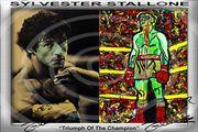Sylvester Stallone Einmaliger Kunstdruck 45x30