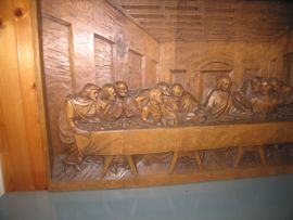 Abendmahl handgeschnitzt 75cm x 42: Kleinanzeigen aus Gingen - Rubrik Kunst, Gemälde, Plastik