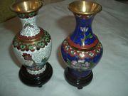 2 Cloisonné Vasen China