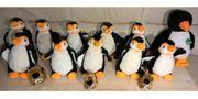 Verschiedene Pinguin Plüschtiere