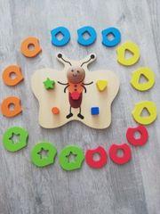 Holz-Stapelspielzeug Schmetterling