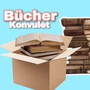 ein Karton voller Bücher zu