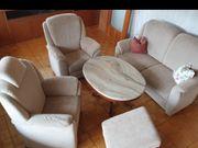 2er-Couch 2 x Fernseh-Sessel Hocker