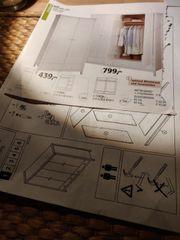 Massivholz Kleiderschrank 4-türig weiß lasiert