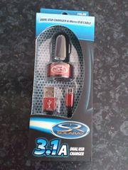Handyhalterung und USB Stecker mit