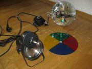 80ies Halogen Discokugel-Set mit Motor