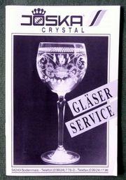 Alter Joska crystal Gläser Service