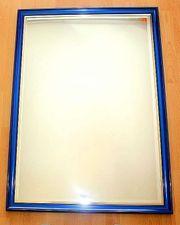 großer Wandspiegel m blau Metallic